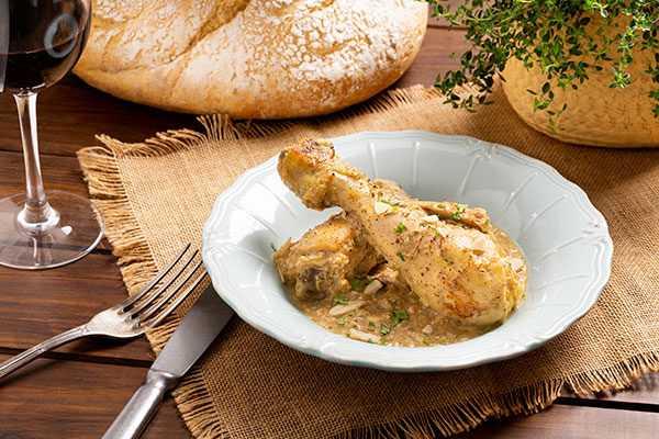 Receta de pollo en pepitoria de A Punto Madrid