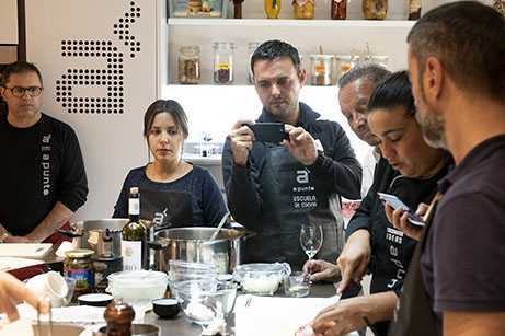 Team building de cocina en Madrid centro A Punto