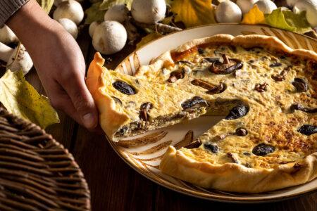 Curso de cocina vegetariana casera quiche de verduras