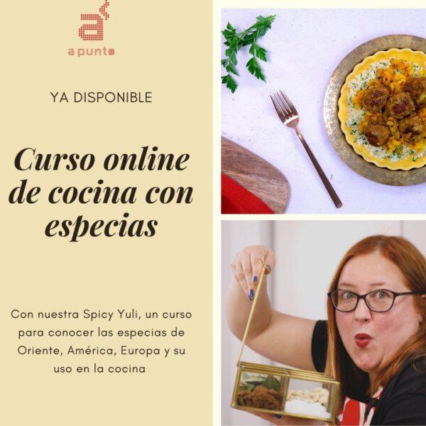 Curso online de cocina con especias