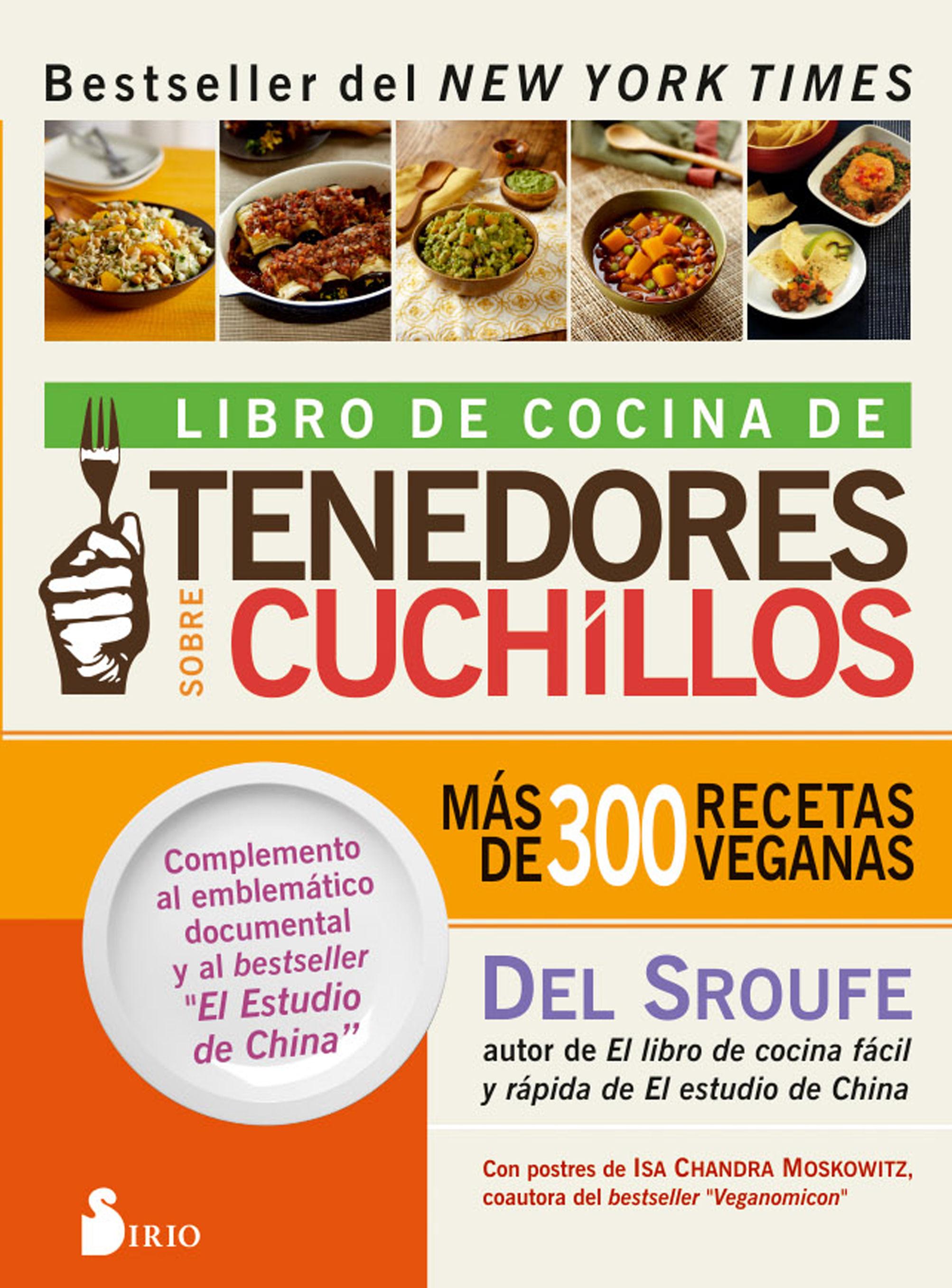 LIBRO DE COCINA DE TENEDORES SOBRE CUCHILLOS